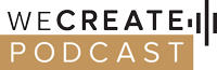 WeCreatePodcast | Inspirational Real Life Stories Logo